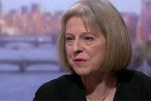 Home Secretary Theresa May appeared on the Andrew Marr Show. View the video. (Photo: BBC)