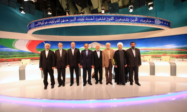 Saeed Jalili, Gholam Ali Haddad Adel, Mohammad Bagher Qalibaf, Ali Akbar Velayati, Mohammad Gharazi, Mohammad Reza Aref, Hasan Rowhani, Mohsen Rezaei
