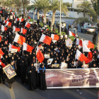 A pro-democracy protest in Bahrain, where (Photo: Moh'd Saeed / Demotix)