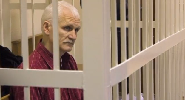 Ales Bialiatski has been imprisoned in Belarus since 2011 (Image: AmnistieWeb/YouTube)