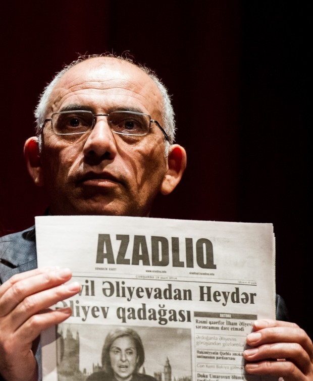 Rahim Haciyev, deputy editor-in-chief of Azerbaijani newspaper Azadliq (Photo: Alex Brenner for Index on Censorship)