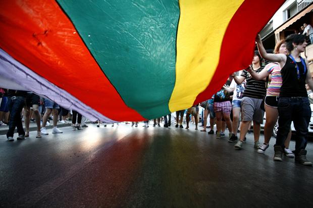 Thessaloniki Pride parade 2012 (Image: Konstantinos Tsakalidis/Demotix)