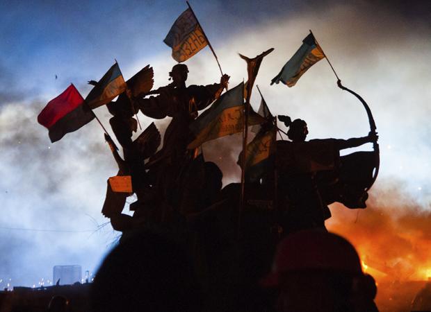 Anti-Government Riot in Kiev, Ukraine