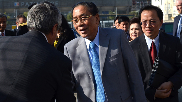 The Laotian president, Choummaly Sayasone, made a five day official visit to France in October 2013 -- the first such visit in 60 years. (Photo: Serge Mouraret / Demotix)