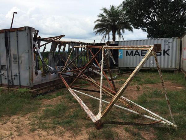Bambari's last functioning radio station was looted on 7th July. (Photo: Jonathan Pedneault / Internews)