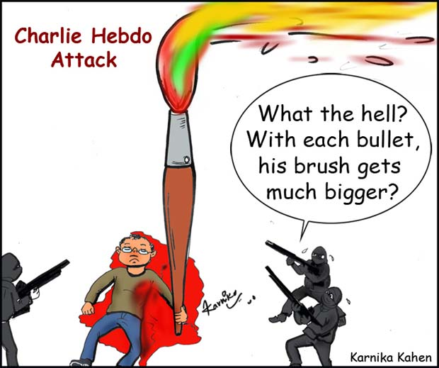 Cartoonist shows solidarity with Charlie Hebdo