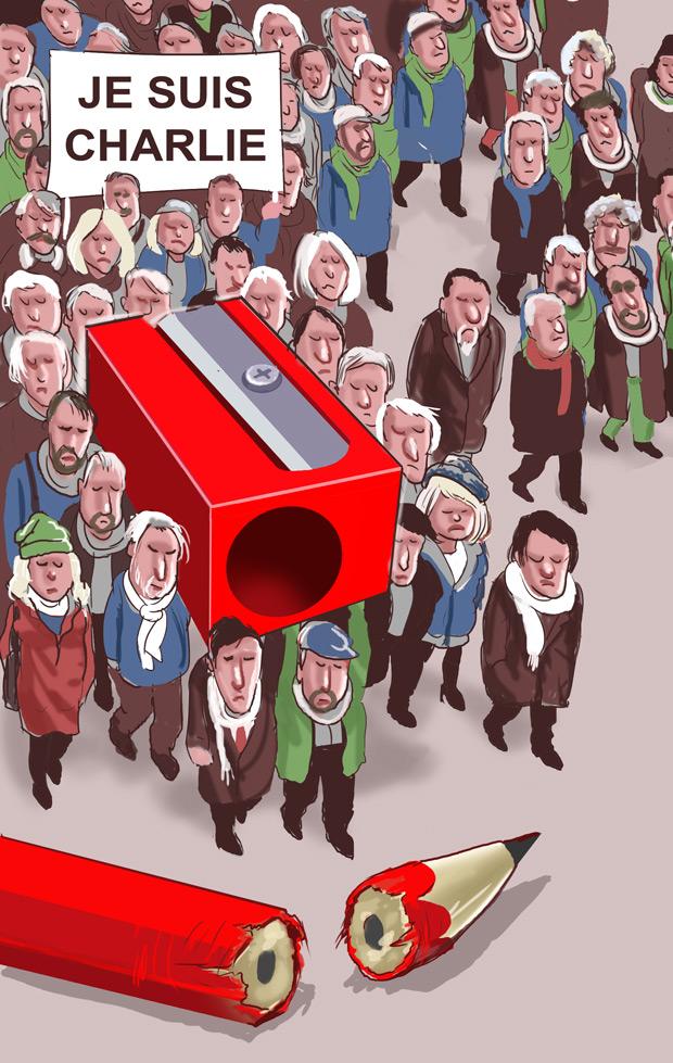 Editorial cartoon courtesy Musa Kart