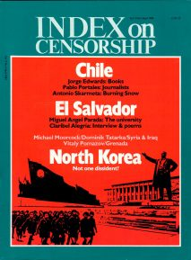 North Korea: Not one dissent?, the April 1984 issue of Index on Censorship magazine.