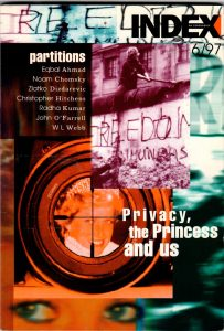 Partition, the November 1997 issue of Index on Censorship magazine