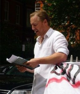 Actor Samuel West from the Belarus Free Theatre
