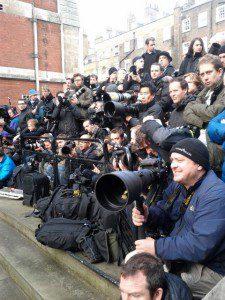 Press outside Leveson Inquiry