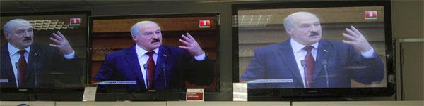 Lukashenko on television