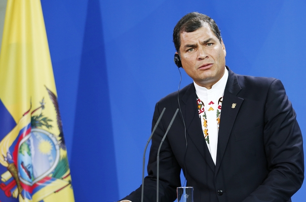 Ecuadorian president Rafael Correa. Pic: Reynaldo C. Paganelli/Demotix