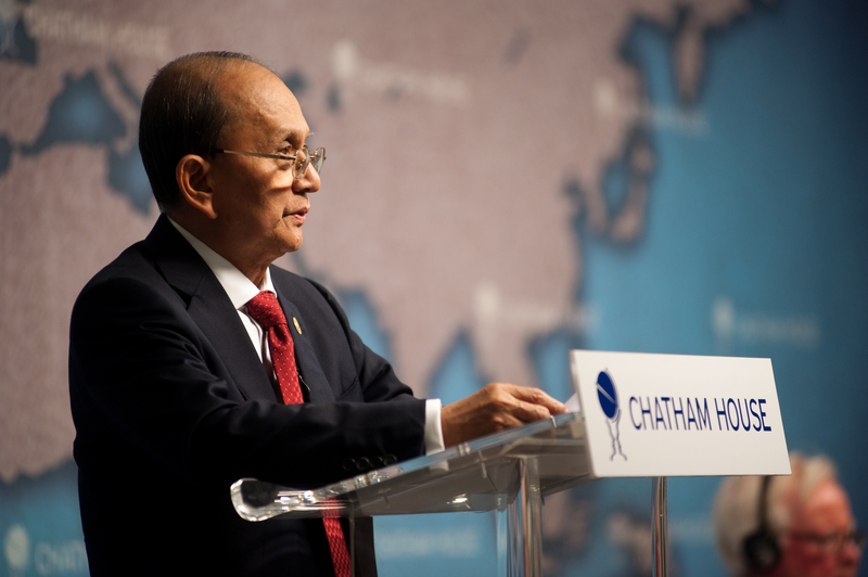 HE Thein Sein, President of Myanmar speaks at Chatham House in London | Demotix