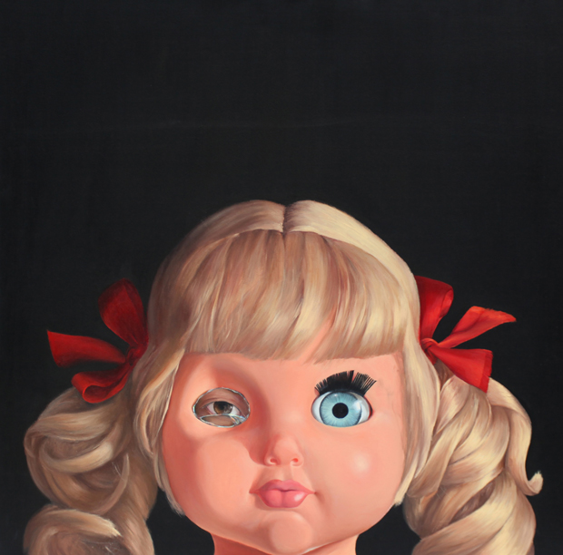 Fadi Al Jabour, Doll 1, from the series Near Death, 2011, oil and acrylic on canvas, 120 x 120 cm