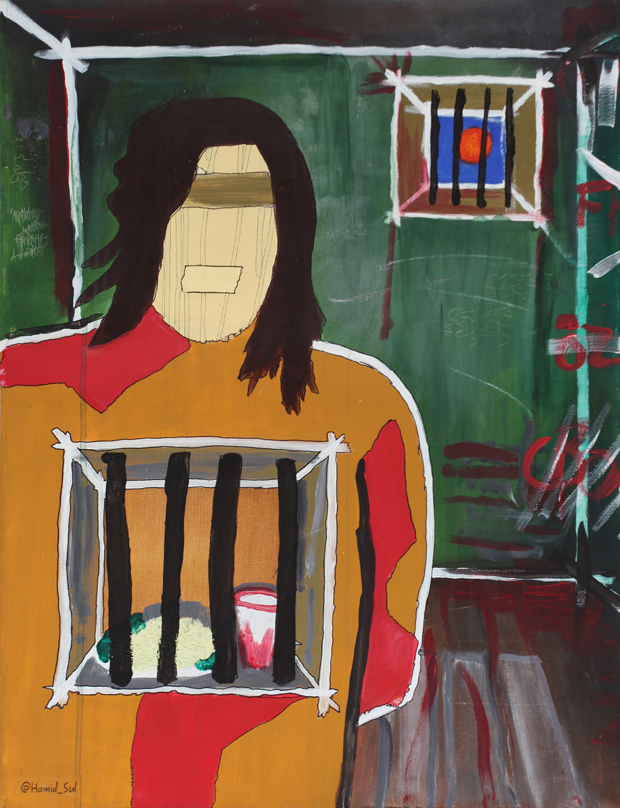 Hamid Sulaiman, Hunger Strike, 2012, acrylic on canvas, 60 x 79 cm