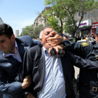 Narimanov Park, Baku, 15 May 2010. Police forcibly detain a political activist during an unsanctioned protest. (Photograph by Abbas Atilay)
