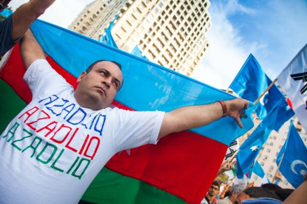 An opposition protest in Baku, September 2013 (Image Demotix/Aziz Karimov)