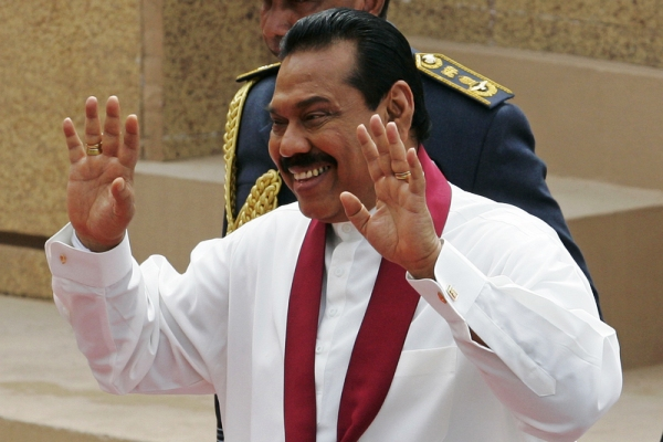 President Rajapaksa of Sri Lanka claims his hands are when it comes to human rights. Image Chamila Karunarathne/Demotix