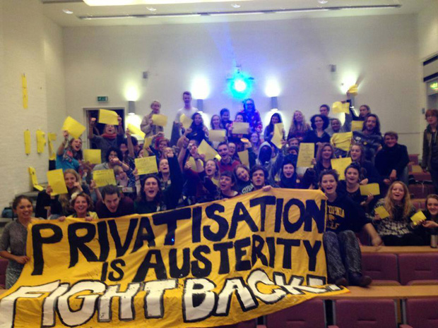 Sussex students during their university sit-in protest (Image: Occupy Sussex)