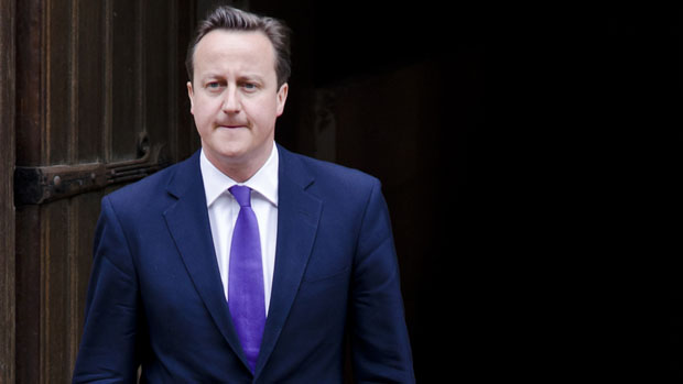 Prime Minister David Cameron leaves The Leveson Inquiry