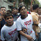Rohingya Muslim refugees from Burma at a protest in Kuala Lumpur, Malaysia (Image: Khairil Safwan/Demotix)
