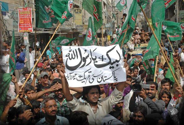 Protests in Pakistan against the film Innocence of Muslims, which got YouTube blocked in the country (Image: Rajput Yasir/Demotix)