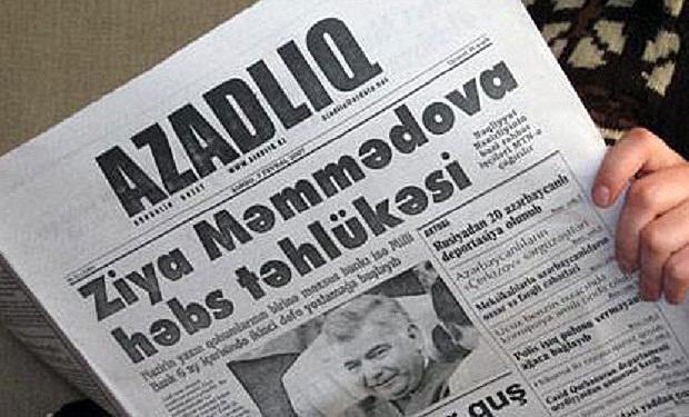 Journalism nominee Azadliq