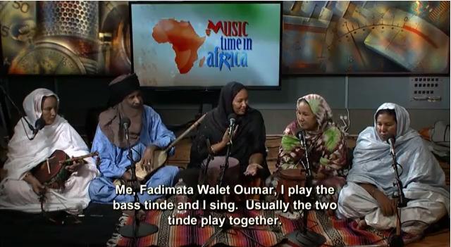 Fadiamata Walet Oumar with her band Tartit (Image: YouTube)