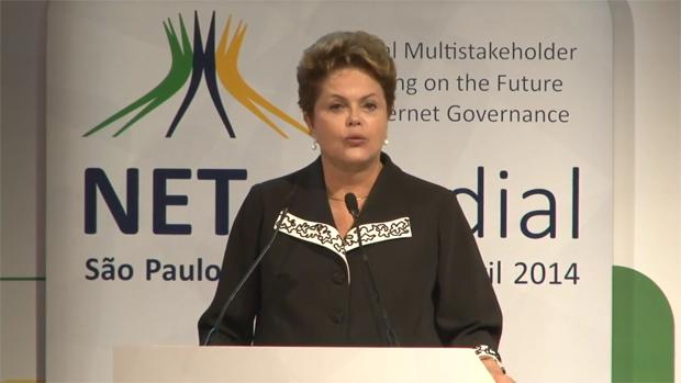 Brazilian President Dilma Rouseff spoke at the opening of NETmundial.