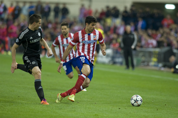 Striker Diego Costa during the first leg of Atlético Madrid's Champions League semi-final against Chelsea (Image: Gonzalez Fuentes Oscar/Demotix)