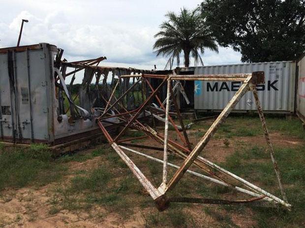 Bambari's last functioning radio station was looted on 7th July. (Photo: Jonathan Pedneault / Internews)