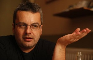 2015 Freedom of Expression Journalism Award winner Tamás Bodoky, founder of Atlatszo.hu