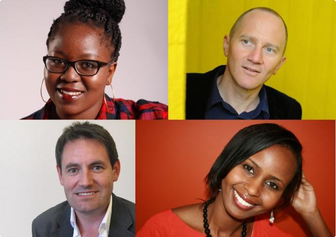 Clockwise from top left: Nadifa Mohamed, Chris Cleave, Zodwa Nyoni, Tim Finch