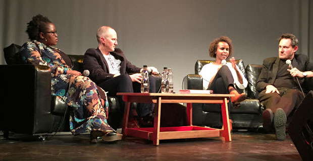 From left: Playwright Zodwa Nyoni, novelist Chris Cleave, author Nadifa Mohamed and Tim Finch, author and chair of Counerpoint Arts.