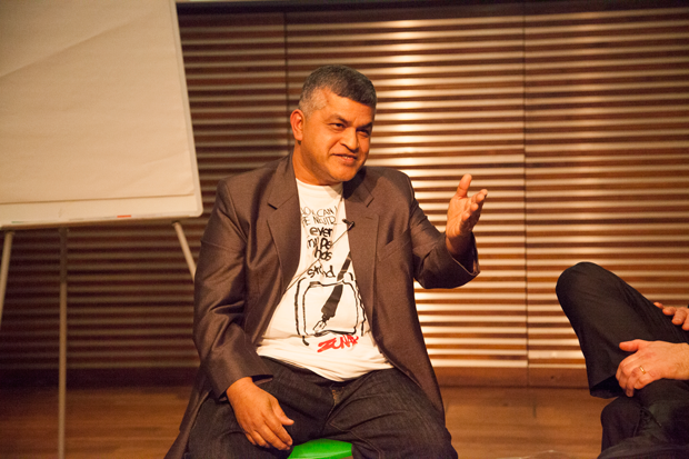Malaysian cartoonist Zunar is facing charges under a colonial era Sedition Act. (Photo: Sean Gallagher/Index on Censorship)