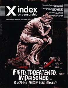 The summer 2015 issue of Index on Censorship magazine which focuses on academic freedom. Subscribe here to get your copy.