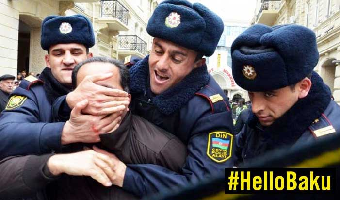 Activists hijacked a hashtag used to promote a contest to win tickets to the opening ceremony of the Baku European Games (Photo: Amnesty International)