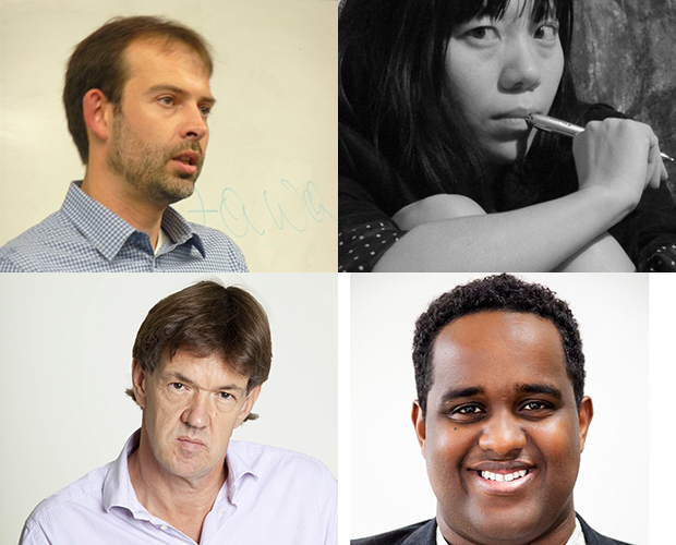 Journalist Stephen Grey, Novelist Xiaolu Guo, Editor Robert McCrum and Journalist Ismail Einashe
