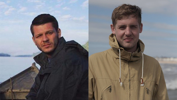British journalists Jake Hanrahan, left, and Philip Pendlebury and a local colleague were filming clashes between pro-Kurdish youths and security forces, according to Vice. (Photos: Vice News)