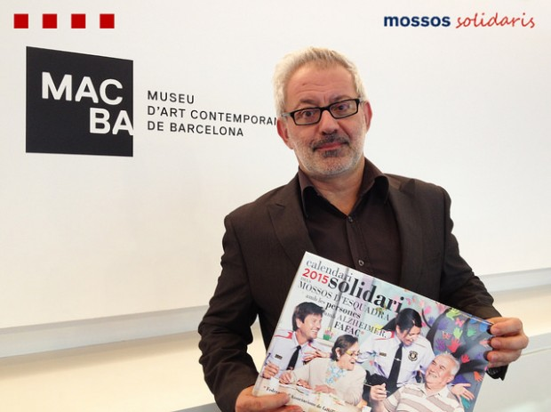 Bartomeu Marí at the charity launch of a calander at the MACBA, where he controversially resigned earlier this year. Credit: Flick/Mossos. Generalitat de Catalunya
