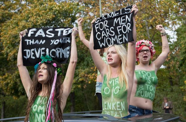 Femen activists demonstrate in Berlin