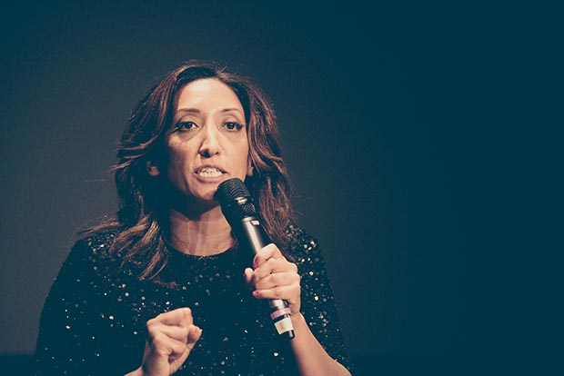 Comedian and 2016 Freedom of Expression Awards host Shazia Mirza (Photo: Elina Kansikas for Index on Censorship)
