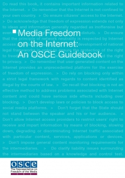 Media Freedom on the Internet- An OSCE Guidebook