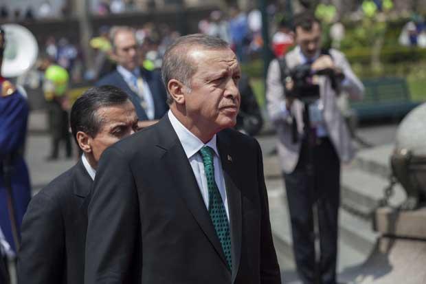 Turkey's president, Recep Tayyip Erdoğan, during a state visit to Ecuador in February 2016. (Photo: Cancillería del Ecuador via flickr