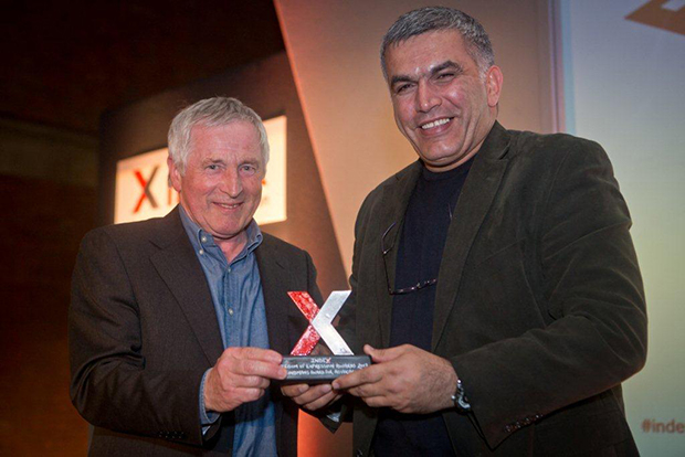 Nabeel Rajab, BCHR - winner of Bindmans Award for Advocacy at the Index Freedom of Expression Awards 2012 with then-Chair of the Index on Censorship board of trustees Jonathan Dimbleby
