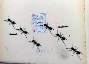 "Ants feature in Keizer's work to sybolise ""the forgotten ones, the silenced, the nameless, those marginalised by capitalism"". Image: Keizer"