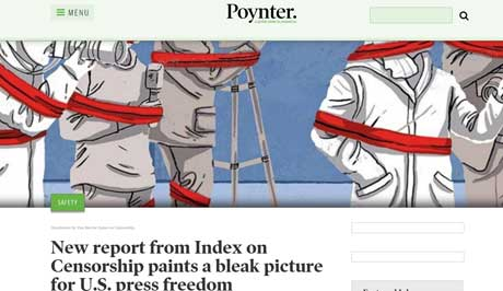 Poynter covered Index's report on US media freedom