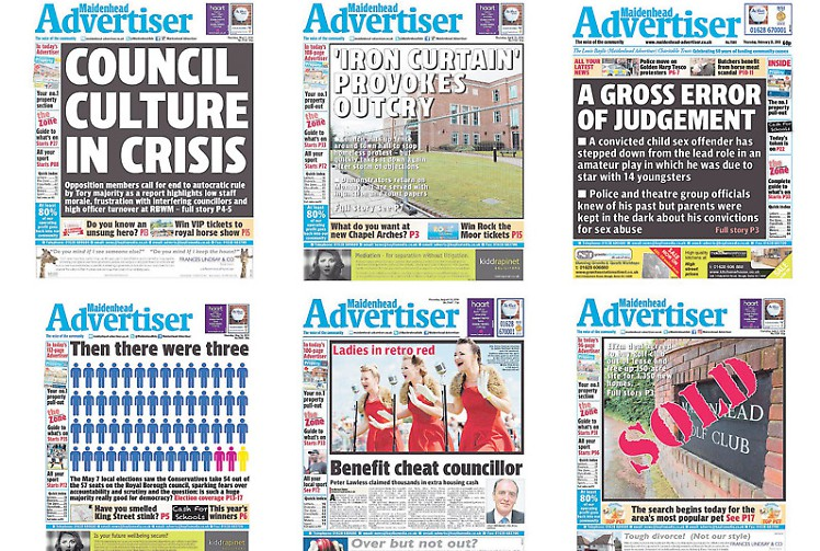 Small publishers and local newspapers like the Maidenhead Advertiser could be targeted if Section 40 is implemented.