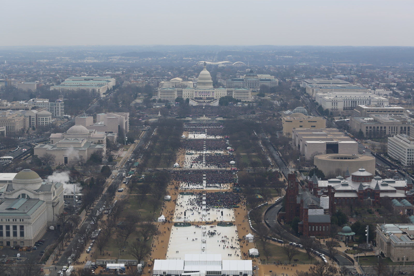 Crowds at the US Inauguration Jan 21 2017